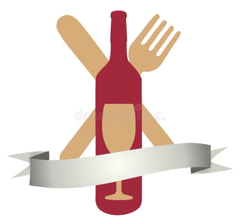 Wine et dinez illustration stock