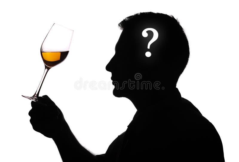 Wine expert testing stock photo