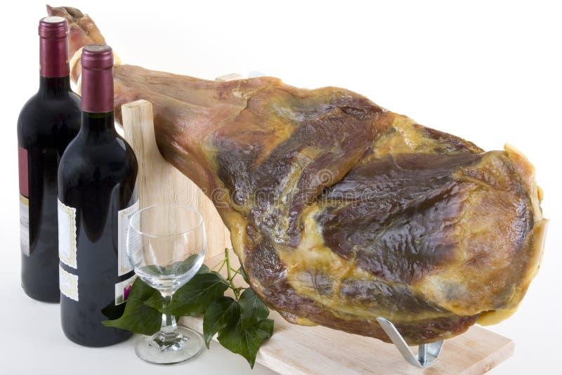 wine för 4 skinka arkivbilder