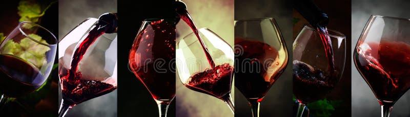 wine för bägarehandavsmakning Drinkbakgrund  arkivfoto