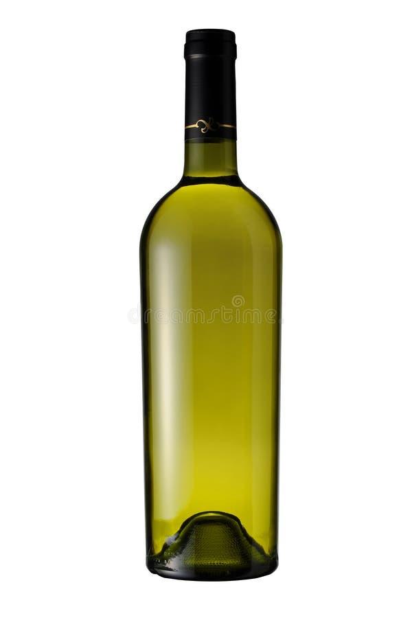 wine för bana för flaska clipping isolerad vit fotografering för bildbyråer