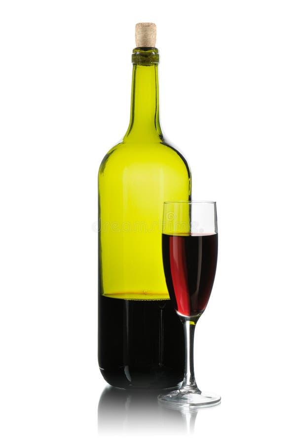 wine för flaskexponeringsglas royaltyfri foto
