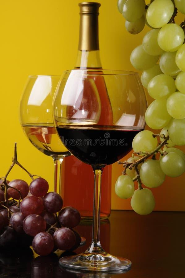wine för flaskexponeringsglas två royaltyfri foto