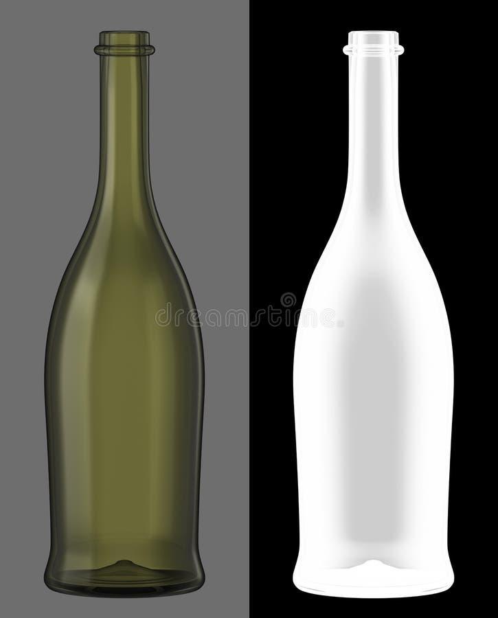 wine för green för flaskexponeringsglas royaltyfria foton