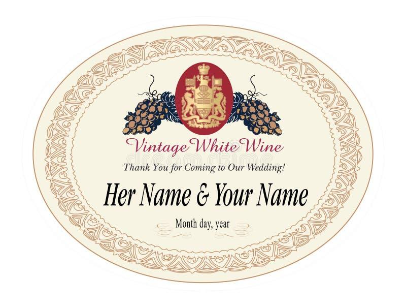 wine för illustrationetikettvektor royaltyfri illustrationer