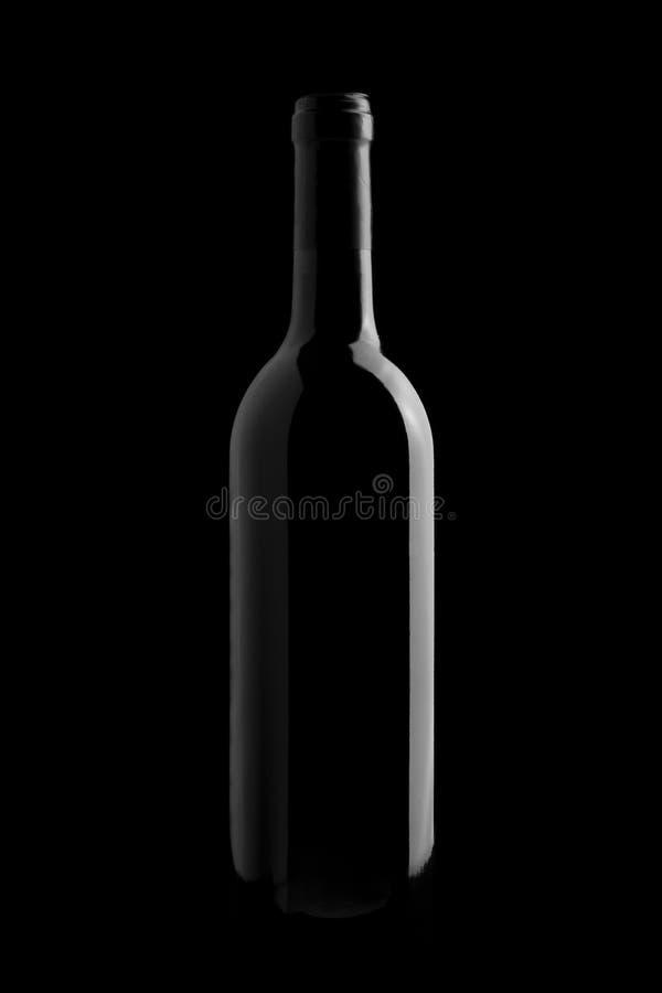 wine för svart flaska för bakgrund elegant royaltyfria foton