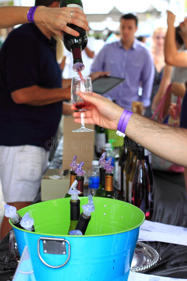 Wine Festival Party Event stock images