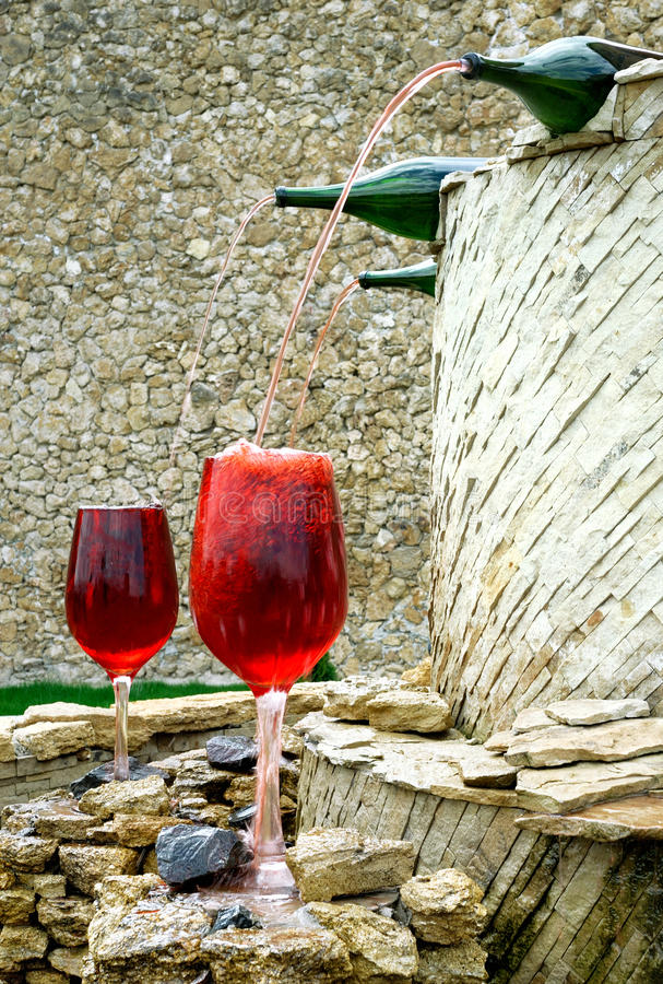 Wine fontain royalty free stock images