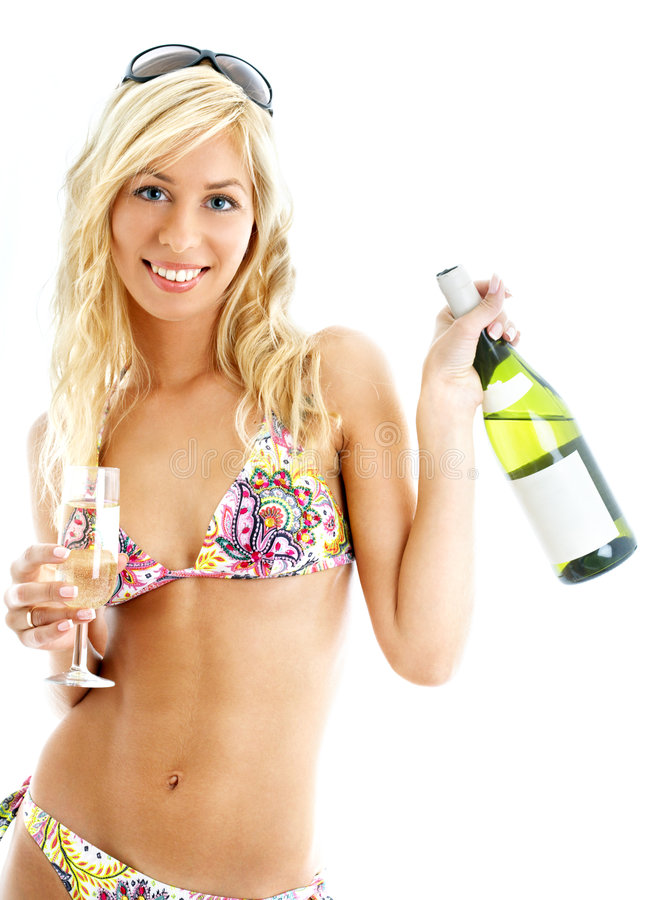Free Wine Girl Royalty Free Stock Photos - 1461398