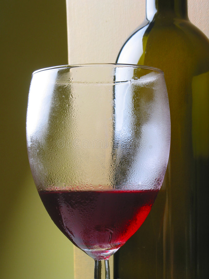Wine and glass stock image