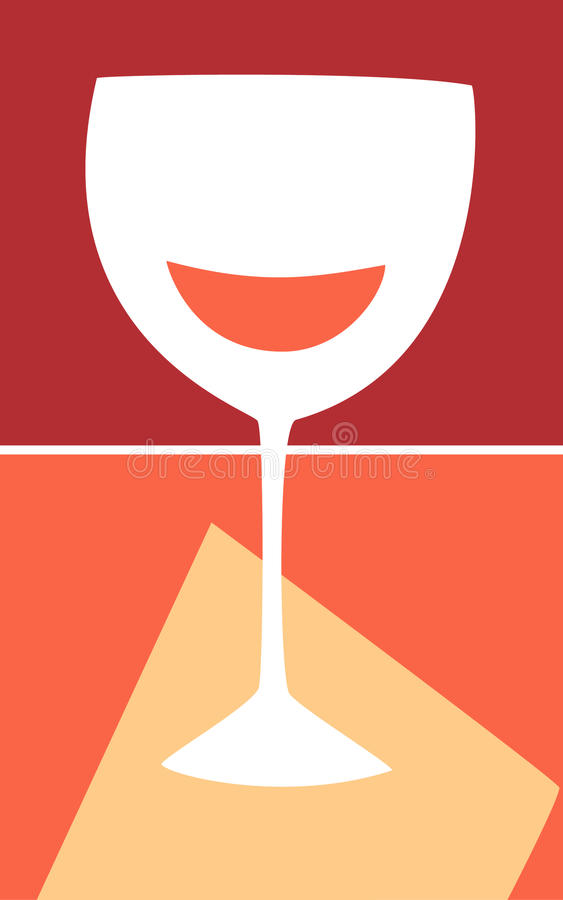 Wine Glass royalty free illustration