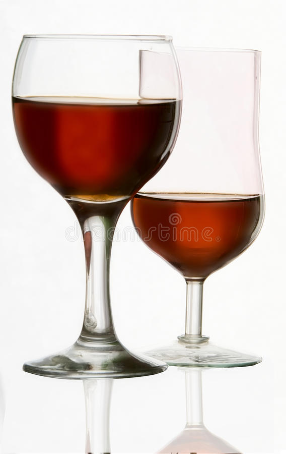 Wine glass. Red wine glass isolated on a white background stock photography