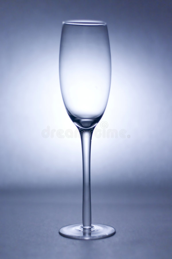 Wine Glass. In blue tone stock images