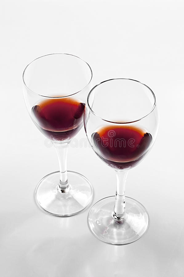 Wine glass. In a white background stock image
