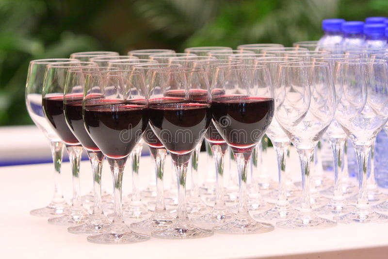 Wine & Glass stock photos