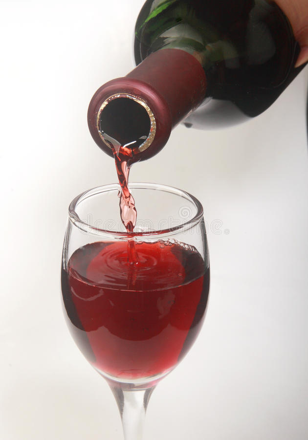 Wine glass. Red wine in a wine glass stock photography