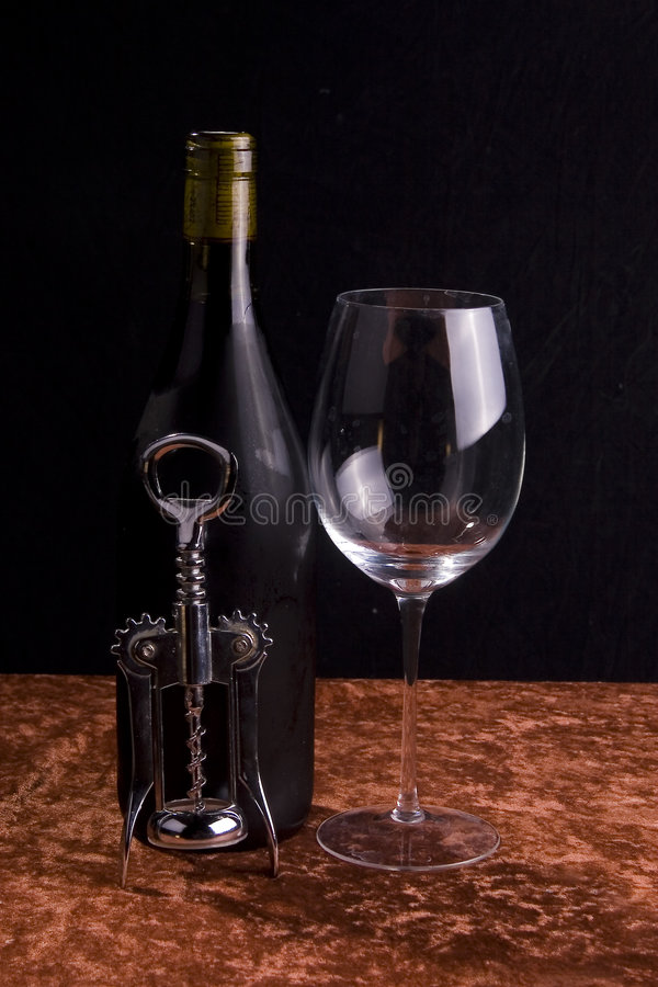 Wine and Glass stock photos
