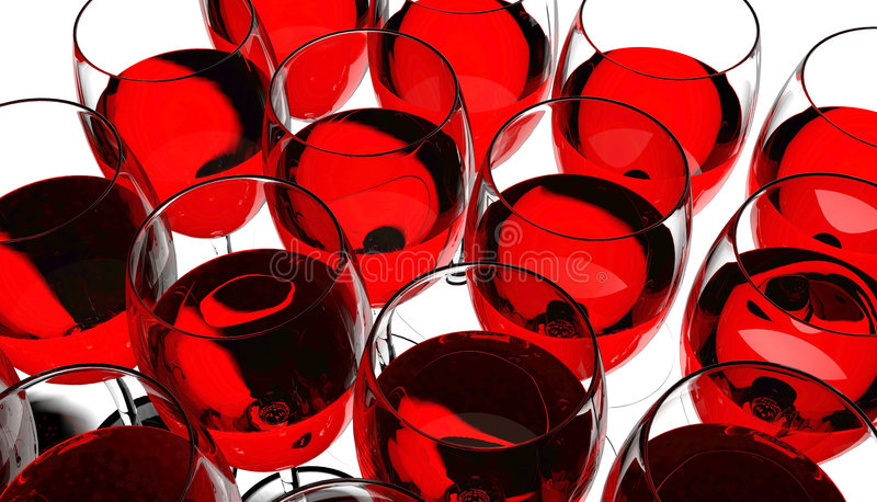 Download Wine in glass stock illustration. Image of transparent - 8192282