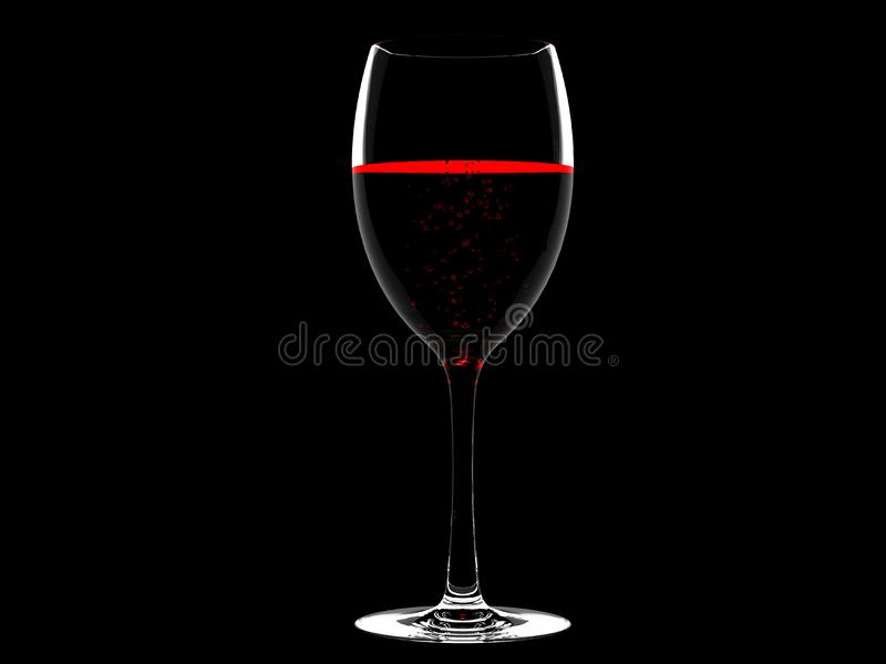 Wine in glass stock photography