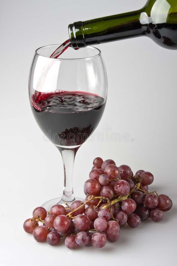 Wine in the glass royalty free stock images
