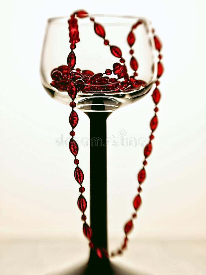 Download Wine Glass And Beads Abstract Stock Image - Image: 15112797