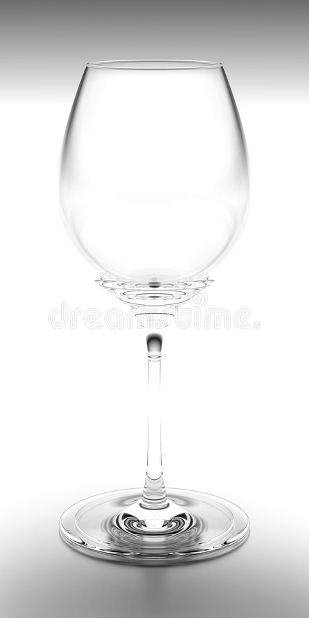 Wine Glass Black & White royalty free stock photography