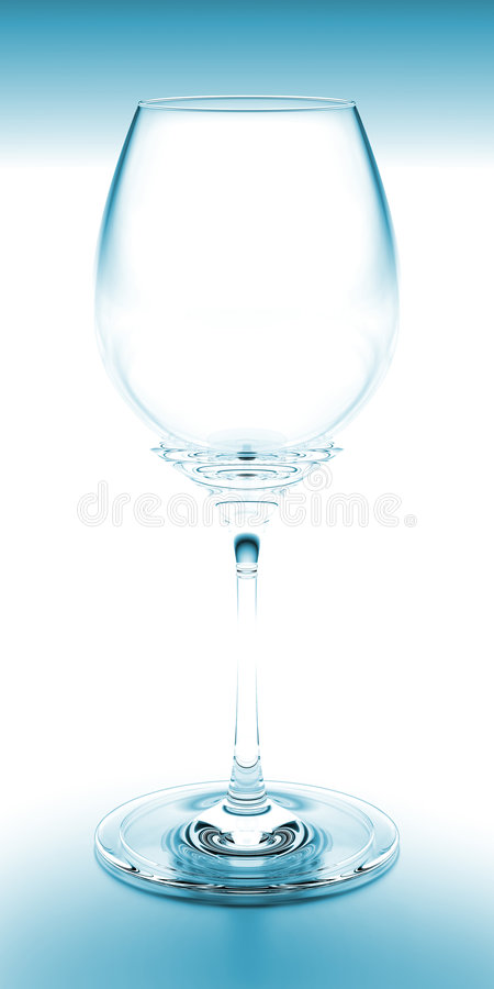 Wine Glass Blue royalty free stock image