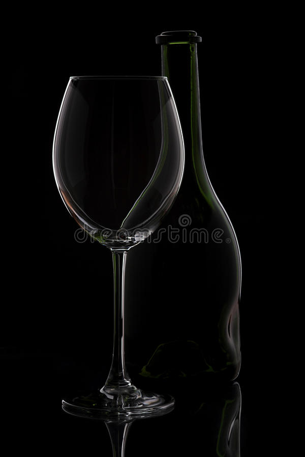 Download Wine glass & bottle stock photo. Image of bottle, alcohol - 19720066