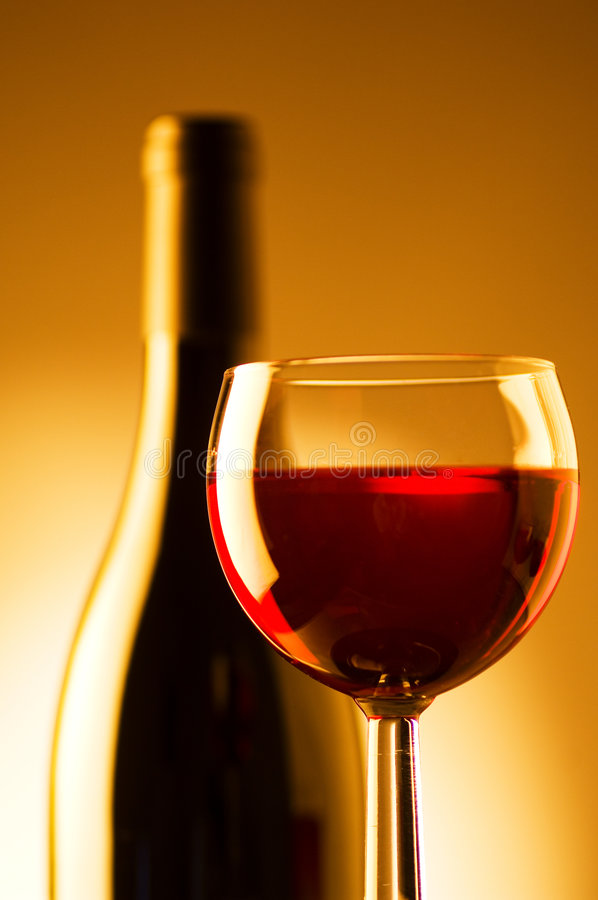 Download Wine glass and bottle stock photo. Image of isolated, celebration - 2771126