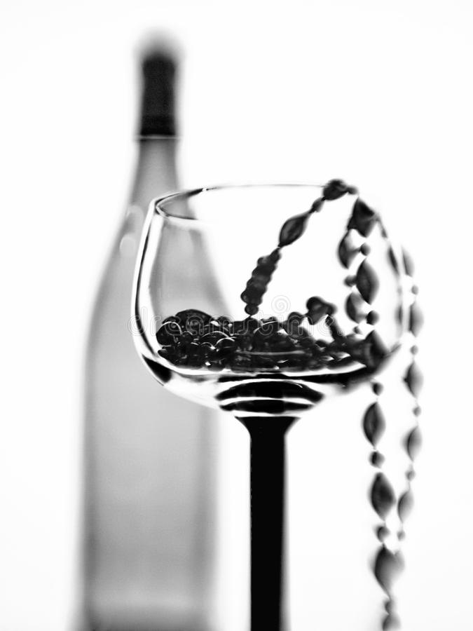 Free Wine Glass,Bottle And Beads Abstract Royalty Free Stock Images - 15112779
