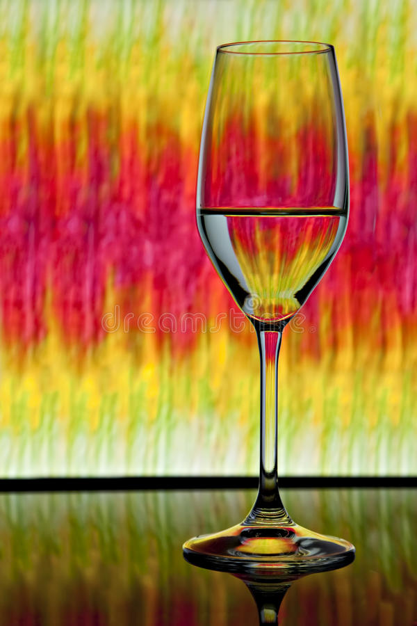 Download Wine Glass With Colorful Background Stock Photo - Image of happy, clock: 11800530
