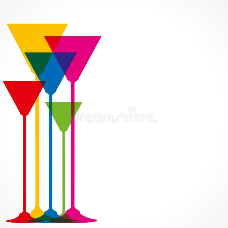 Wine glass. Colorful wine glass background stock illustration