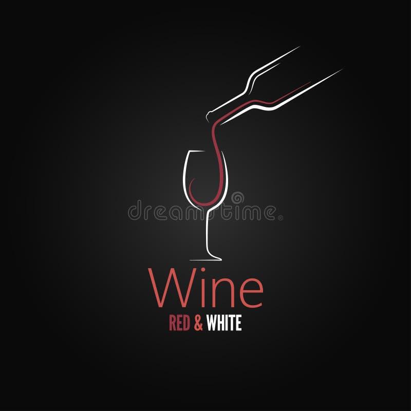 Wine glass concept menu design vector illustration