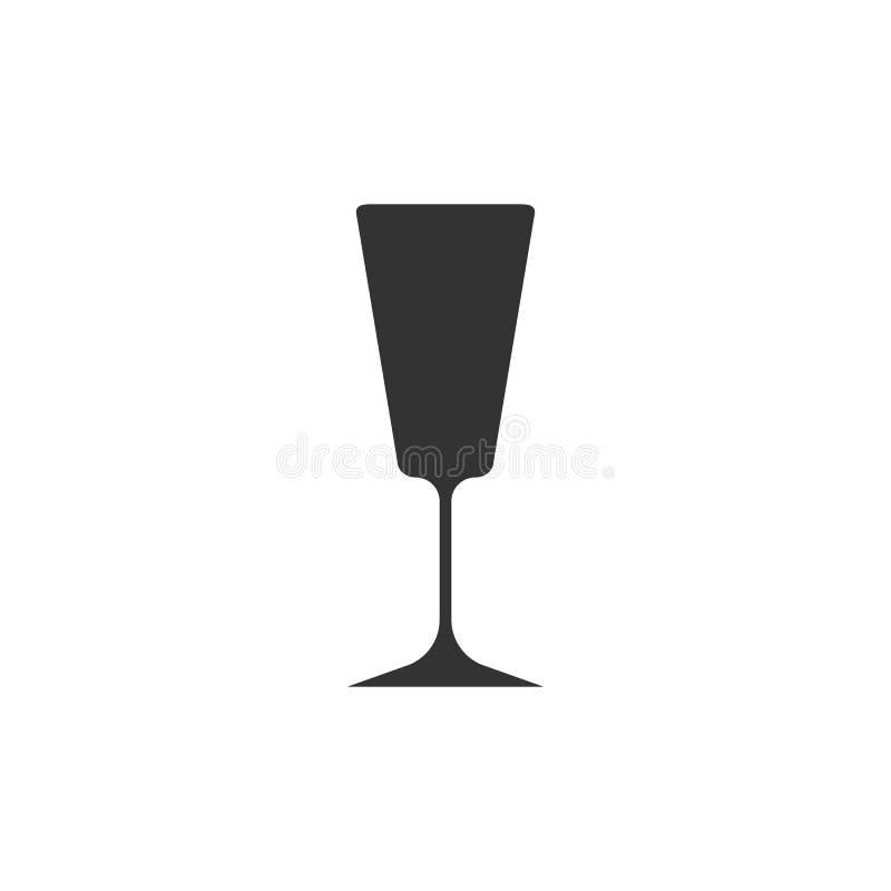 Wine glass icon. Goblet symbol. Vector illustration. Flat design vector illustration