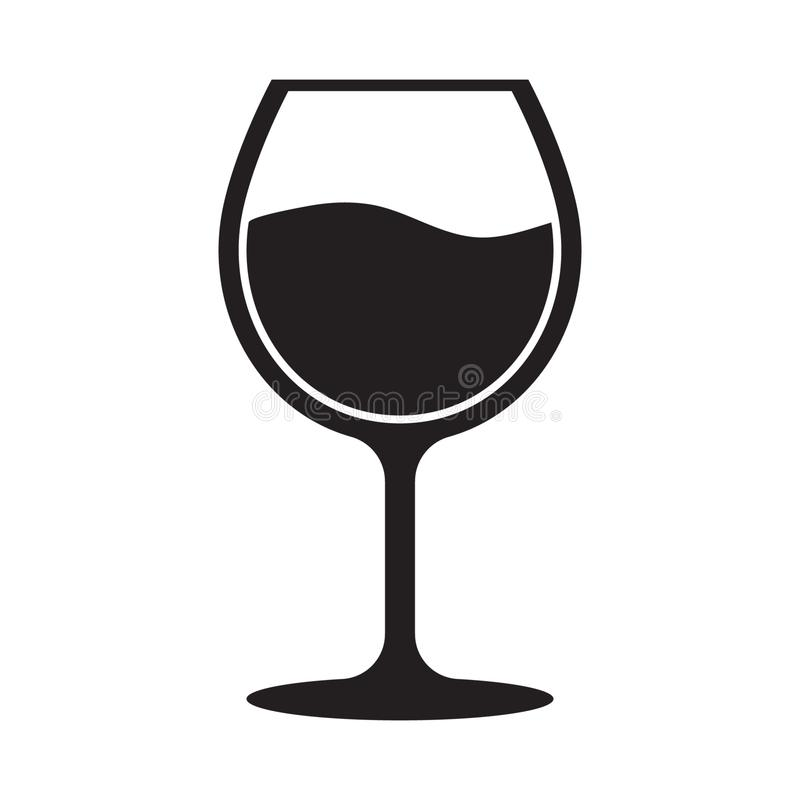 Wine glass icon. Vector illustration isolated on white background vector illustration