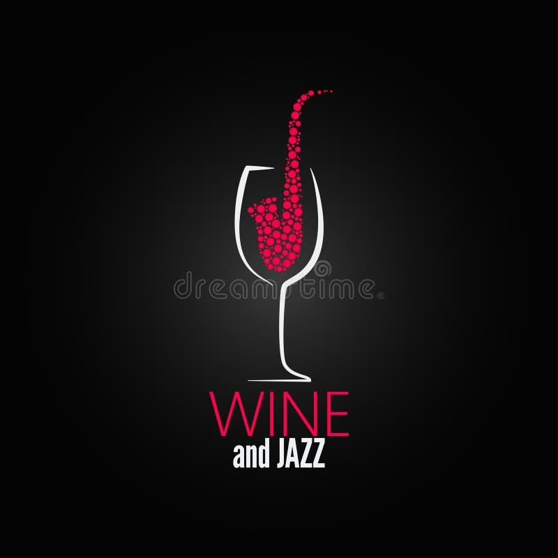 Wine glass jazz design concept background vector illustration