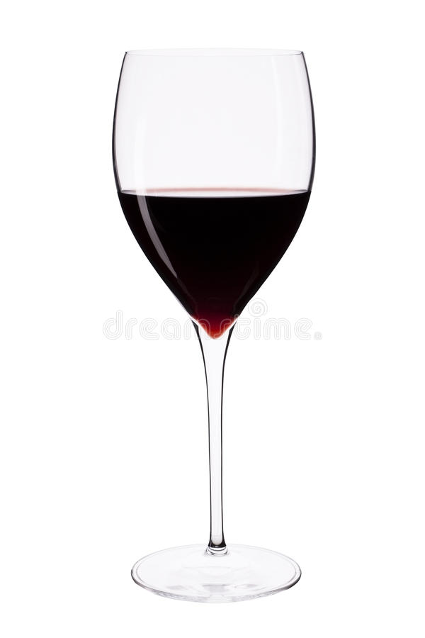 Wine glass with red wine. royalty free stock image