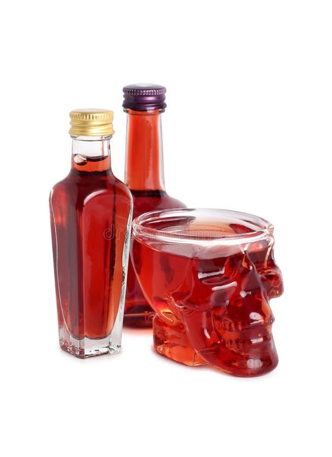 Glass skull seven stock images