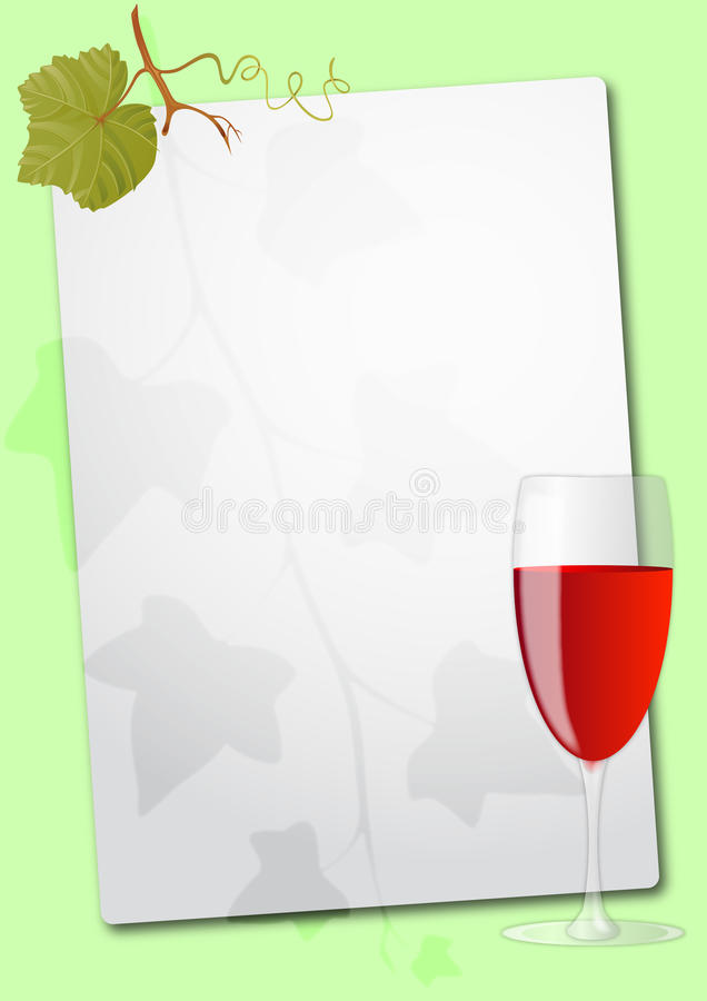 Download Wine glass sheet stock vector. Image of page, wine, paper - 20695810