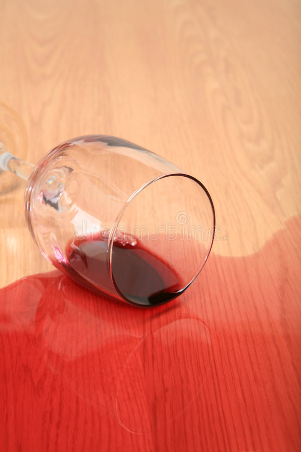Wine glass spilled
