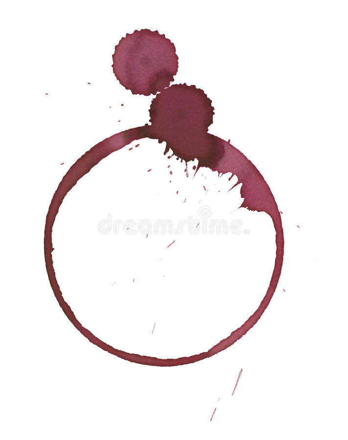 Wine glass stain. Wine stain made from wineglass royalty free stock image