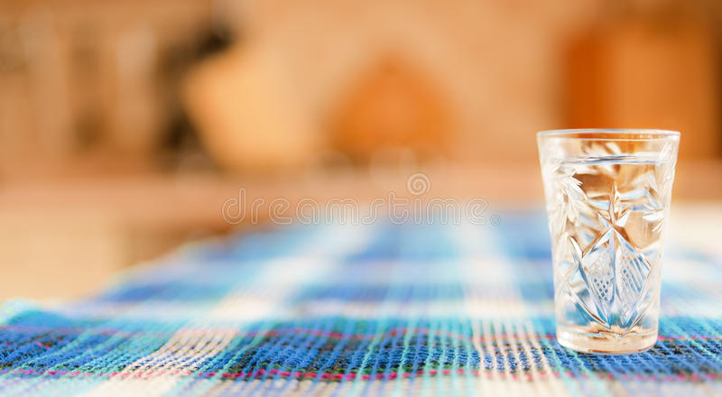 Wine-glass on table royalty free stock photo