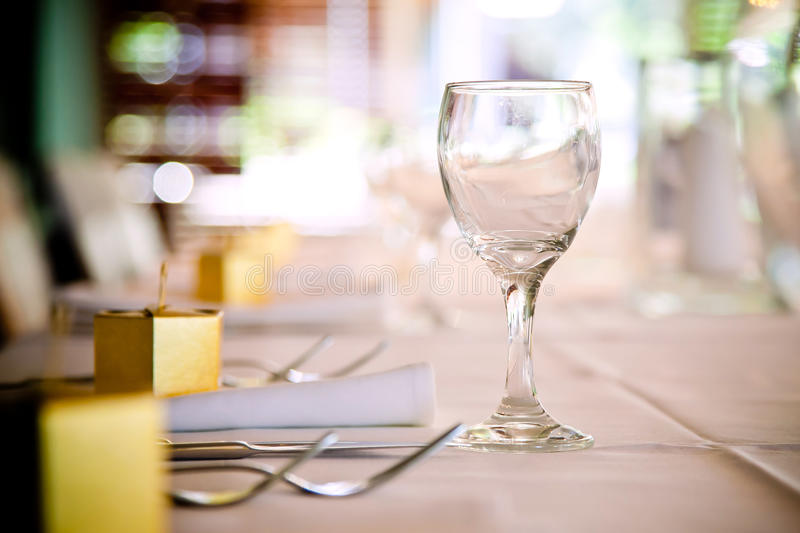 Wine Glass Table Setting royalty free stock photo