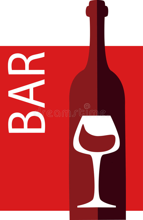 Wine and glass vector design template royalty free illustration