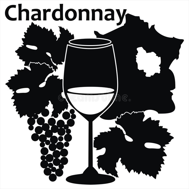 Download Wine Glass For White French Wine - Chardonnay Stock Vector - Image: 25292560