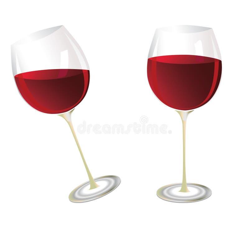 Wine glasses royalty free illustration