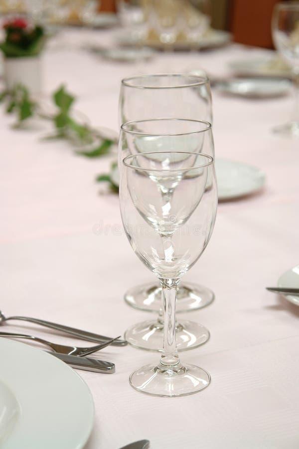Wine glasses stock photography