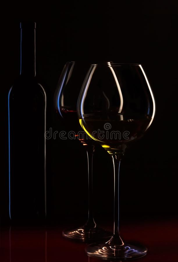 Wine Glasses And Bottle Free Public Domain Cc0 Image