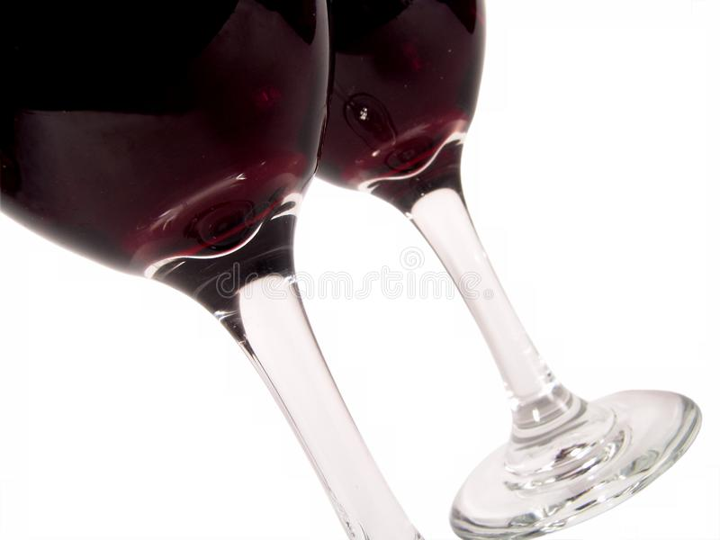 Wine Glasses Diagonal stock image