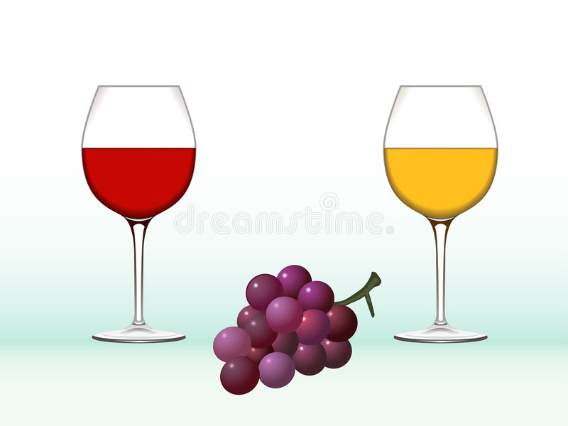 Download Wine glasses and grape stock vector. Image of illustration - 3057893